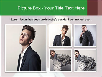 Portrait of handsome man with stylish PowerPoint Template - Slide 19