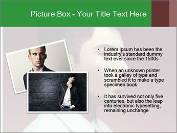 Portrait of handsome man with stylish PowerPoint Template - Slide 20