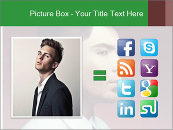 Portrait of handsome man with stylish PowerPoint Template - Slide 21