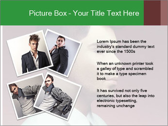 Portrait of handsome man with stylish PowerPoint Template - Slide 23