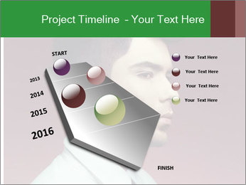 Portrait of handsome man with stylish PowerPoint Template - Slide 26