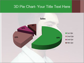 Portrait of handsome man with stylish PowerPoint Template - Slide 35