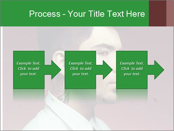 Portrait of handsome man with stylish PowerPoint Template - Slide 88