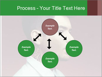 Portrait of handsome man with stylish PowerPoint Template - Slide 91