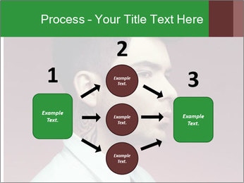 Portrait of handsome man with stylish PowerPoint Template - Slide 92