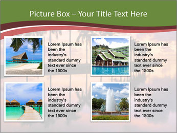 Sunrise at Cutler Bay near Miami PowerPoint Template - Slide 14