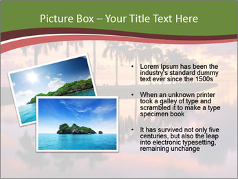 Sunrise at Cutler Bay near Miami PowerPoint Template - Slide 20