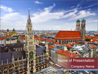 Germany skyline PowerPoint Template - Slide 1