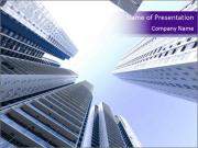 Tall building modern building PowerPoint Templates