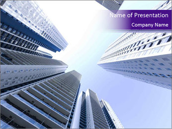 Tall building modern building PowerPoint Template - Slide 1