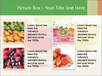 Tasty jelly cubes in bowls on table PowerPoint Template - Slide 14