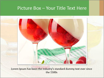 Tasty jelly cubes in bowls on table PowerPoint Template - Slide 15