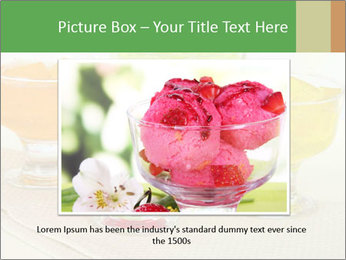 Tasty jelly cubes in bowls on table PowerPoint Template - Slide 16