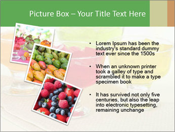 Tasty jelly cubes in bowls on table PowerPoint Template - Slide 17