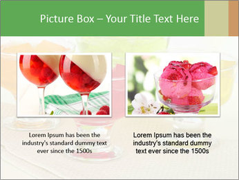 Tasty jelly cubes in bowls on table PowerPoint Template - Slide 18