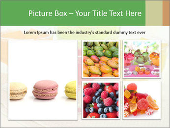Tasty jelly cubes in bowls on table PowerPoint Template - Slide 19