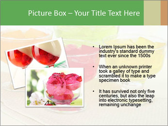 Tasty jelly cubes in bowls on table PowerPoint Template - Slide 20