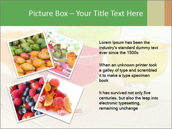 Tasty jelly cubes in bowls on table PowerPoint Template - Slide 23