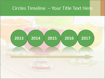 Tasty jelly cubes in bowls on table PowerPoint Template - Slide 29