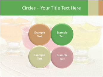 Tasty jelly cubes in bowls on table PowerPoint Template - Slide 38