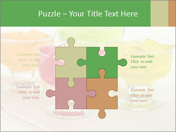 Tasty jelly cubes in bowls on table PowerPoint Template - Slide 43