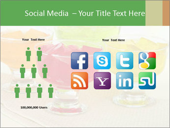 Tasty jelly cubes in bowls on table PowerPoint Template - Slide 5