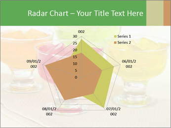 Tasty jelly cubes in bowls on table PowerPoint Template - Slide 51