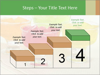 Tasty jelly cubes in bowls on table PowerPoint Template - Slide 64