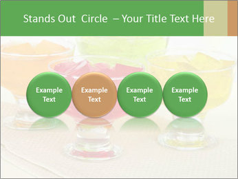 Tasty jelly cubes in bowls on table PowerPoint Template - Slide 76