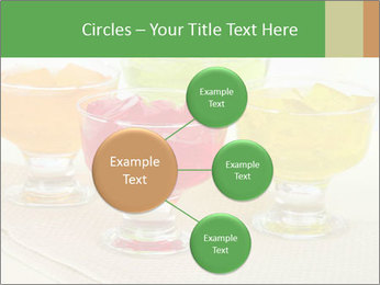 Tasty jelly cubes in bowls on table PowerPoint Template - Slide 79