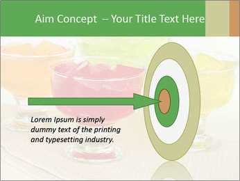 Tasty jelly cubes in bowls on table PowerPoint Template - Slide 83
