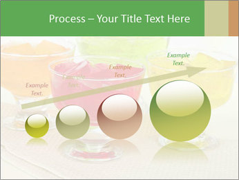 Tasty jelly cubes in bowls on table PowerPoint Template - Slide 87