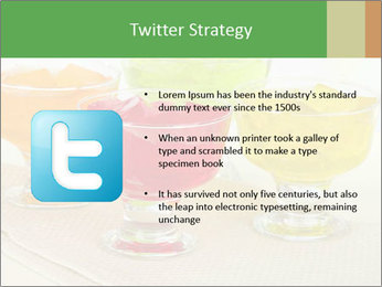 Tasty jelly cubes in bowls on table PowerPoint Template - Slide 9