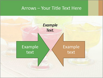 Tasty jelly cubes in bowls on table PowerPoint Template - Slide 90