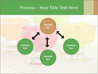 Tasty jelly cubes in bowls on table PowerPoint Template - Slide 91