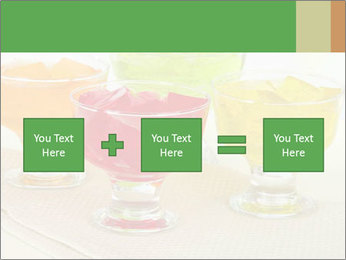 Tasty jelly cubes in bowls on table PowerPoint Template - Slide 95