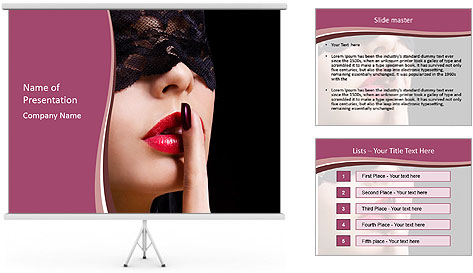 Sexual motives PowerPoint Template