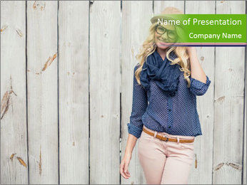 Beautiful young girl PowerPoint Template