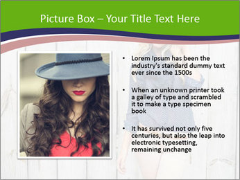 Beautiful young girl PowerPoint Template - Slide 13