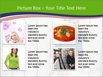 Beautiful young girl PowerPoint Template - Slide 14