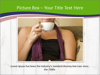 Beautiful young girl PowerPoint Template - Slide 16