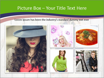 Beautiful young girl PowerPoint Template - Slide 19