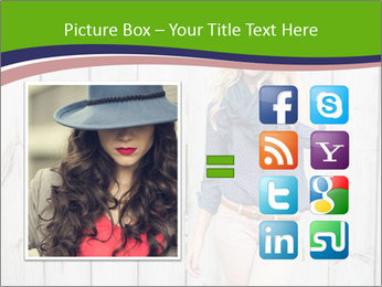 Beautiful young girl PowerPoint Template - Slide 21