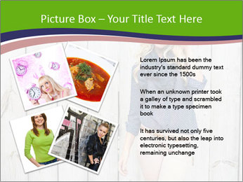 Beautiful young girl PowerPoint Template - Slide 23