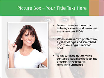 Young cute amazded girl PowerPoint Templates - Slide 13