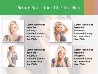 Young cute amazded girl PowerPoint Templates - Slide 14