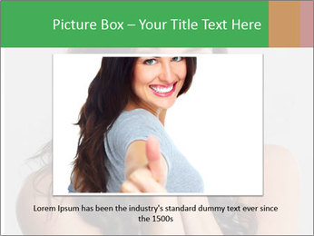 Young cute amazded girl PowerPoint Templates - Slide 15