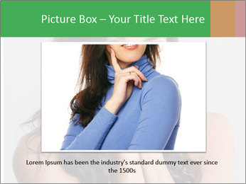 Young cute amazded girl PowerPoint Template - Slide 16