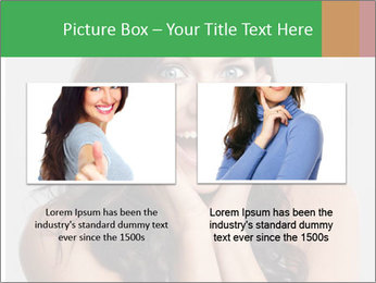 Young cute amazded girl PowerPoint Templates - Slide 18