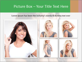 Young cute amazded girl PowerPoint Template - Slide 19